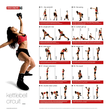 Kettlebell Workout Charts Printable Strength Workout