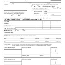 Employment Form Download Verification Printable Standard Job