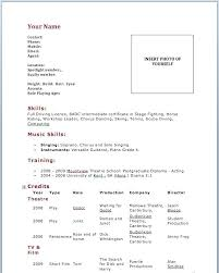 Resume For Beginners Interesting Beginner Acting Resumes Kenicandlecomfortzone
