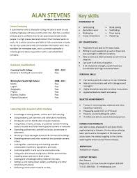 Construction Labor Resume Sample Pdf Format E Database Org