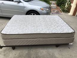 Full size bed mattress frame box springs frame clean clean no