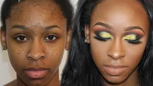 how to cover acne s and ps dramatic yellow glitter tutorial makeover monday makeup ep 2 you