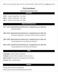 Simple Resume Resume Job