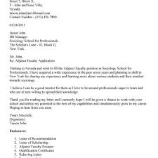 Letter Of Recommendation For Adjunct Faculty Position - Cover ...