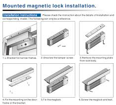 600 lbs single door magnetic lock with