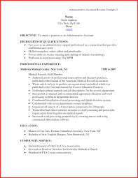 Fresh Administrative Assistant Resume Pdf Personal Leave