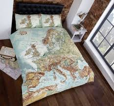 old world map themed duvet bedding set twin queen or king size