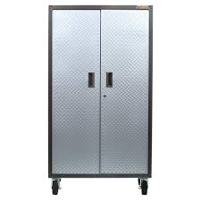 garage storage cabinets with wheels. gladiator ready to assemble 66 in. h x 36 w 18 d steel rolling garage cabinet in silver tread-galg36ckxg - the home depot storage cabinets with wheels