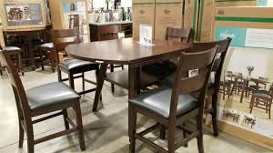 costco bayside counter height table round square with 6 chairs 799