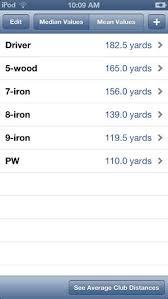 golf club distance cheat sheet golf club distances on the app store