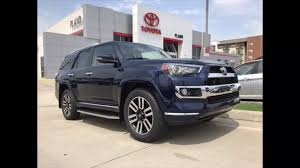 2017 toyota 4runner in nautical blue with bamboo redwood interior