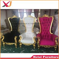china gold wedding love seat king and queen throne chair for hotel furniture china king chair queen chair