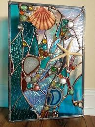 nautical stained glass stained glass tropical fish sea shell nuggets nautical panel 9 nautical themed stained