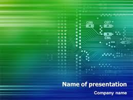 Powerpoint Circuit Theme Printed Circuit Board Presentation Template For Powerpoint