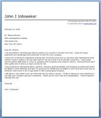landscape cover letter sample landscape resume samples