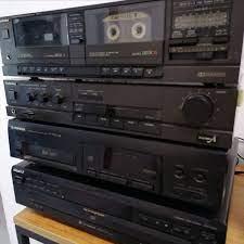 Technics Amfi + Technics Kaset Çalar + Pioneer CD Player + Sony CD Changer  - antikkutu.com