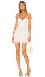 Superdown Size Chart Superdown Lottie Lace Bustier Dress In White Revolve