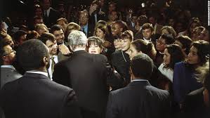 major takeways from monica lewinsky s vanity fair essay  monica lewinsky embraces u s president bill clinton at a democratic fundraiser in washington in 1996