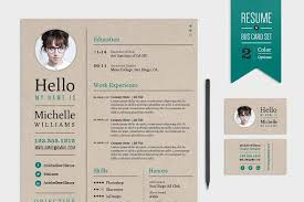 Resume Business Cards Extraordinary Creative Resume Business Card Set Resume Templates Creative Market