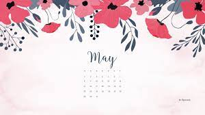 Floral wallpaper desktop, Calendar ...