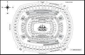 Metlife Seating Chart With Seat Numbers Eye Catching Metlife Seating Chart With Seat Numbers Metlife