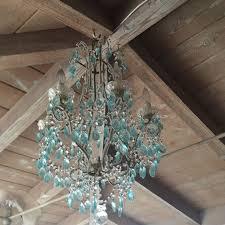 italian aqua beaded chandelier myparisfleamarket