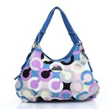 Coach Fashion Signature Medium Blue Shoulder Bags DZI Give You The Best  feeling!