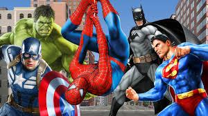 hulk vs red hulk cartoons finger family rhymes superman spiderman ironman batman finger family youtube batman superman iron man
