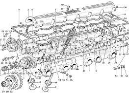 ferrari 365 gtb4 daytona 1969 > engine order online eurospares ferrari 365 gtb4 daytona 1969 cylinder heads camshaft valves diagram