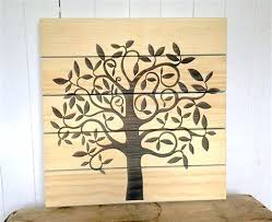 tree of life home decor wooden sign rustic wall art wood family