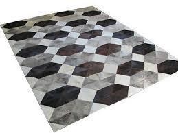 NEW Cowhide <b>Rug Patchwork</b> Cowskin Cow Hide <b>Leather Carpet</b> ...