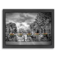 americanflat typical amsterdam by melanie viola framed photographic print size  on typical wall art size with americanflat typical amsterdam by melanie viola framed