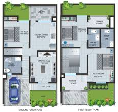 floor plans of apartments row houses at ine baner plans 1375x1296 pixel tmlf