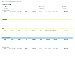 Europe Trip Planner Template Excel 2 Weeks In Itinerary By