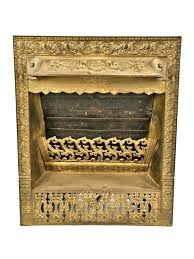 antique gas fireplace insert exceptional metallic gold enameled century patented interior residential cast iron residential fireplace gas insert antique gas