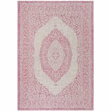 safavieh courtyard moroccan indoor outdoor grey pink area rug 4 x 5 7 for