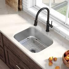 Kraus Kbu12 23 Inch Undermount Single Bowl Stainless Steel Kitchen