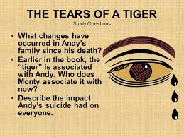 tears of a tiger by sharon m draper ppt the tears of a tiger study questions