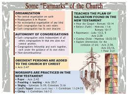 Church Of Christ Plan Of Salvation Chart Some Earmarks Of The Church Barnes Bible Charts A To Z