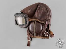 a royal canadian air force rcaf flying helmet with goggles c 1942