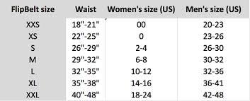 Zipper Size Chart What Size Flipbelt Should I Get Outdoor Fit Lab