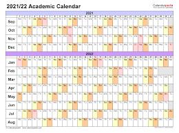 2020 2021 2022 2023 2024 2025 2026 2027 2028 2029. Academic Calendars 2021 2022 Free Printable Pdf Templates