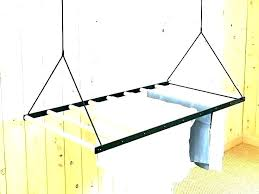 hanging clothes drying rack ceiling drying rack hanging clothes rack from ceiling hanging clothes rack wall