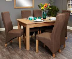 image baumhaus mobel. Baumhaus Mobel Oak 150cm Dining Set With 6 Full Back Upholstered Chairs Image D