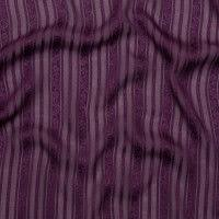Famous NYC Designer Blackberry Wine <b>Striped Floral</b> Silk Chiffon ...