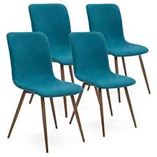best choice s set of 4 mid century modern dining room chairs w fabric