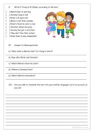 Reading Comprehension For Kids Worksheet Free Printable Worksheets ...