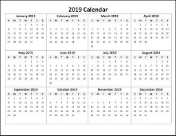 Calendar Template Online Free Online Printable Calendar 2019 Monthly Calendar