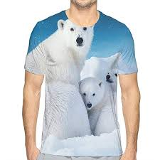 Polar Size Chart Nicokee 3d T Shirt Cute Polar Bear Family Blue Sky Cool