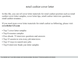 Cover Letter For A Cashier Position Cover Letter For Cashier